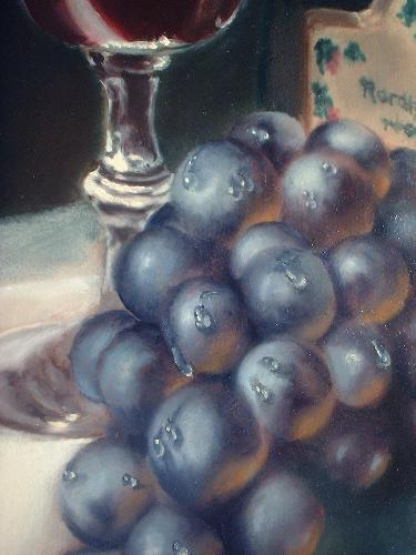 grape painting demonstration