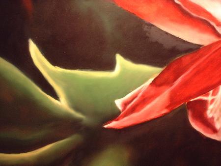 christmas cactus painting