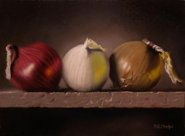 onions oil painting