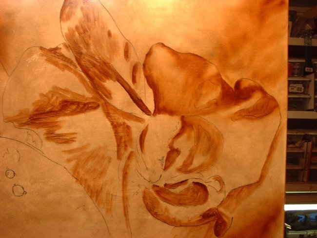 orchid painting under painting