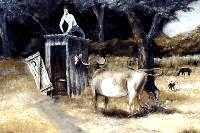 Unexpected trouble, cow painting