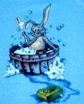 T-shirt cartoon of bunny