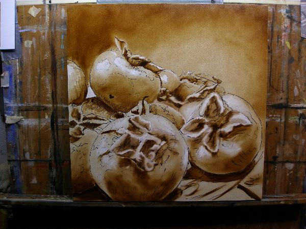 underpainting demonstration