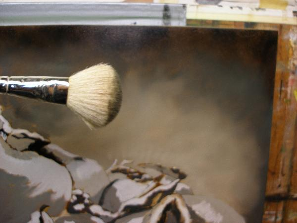 blending brush for painting