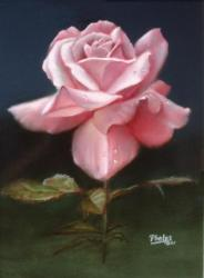 How to paint flowers like you mean it for Easy way to paint a rose