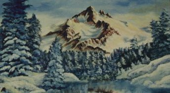 Mountains Landscape painting,