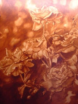 tea rose painting