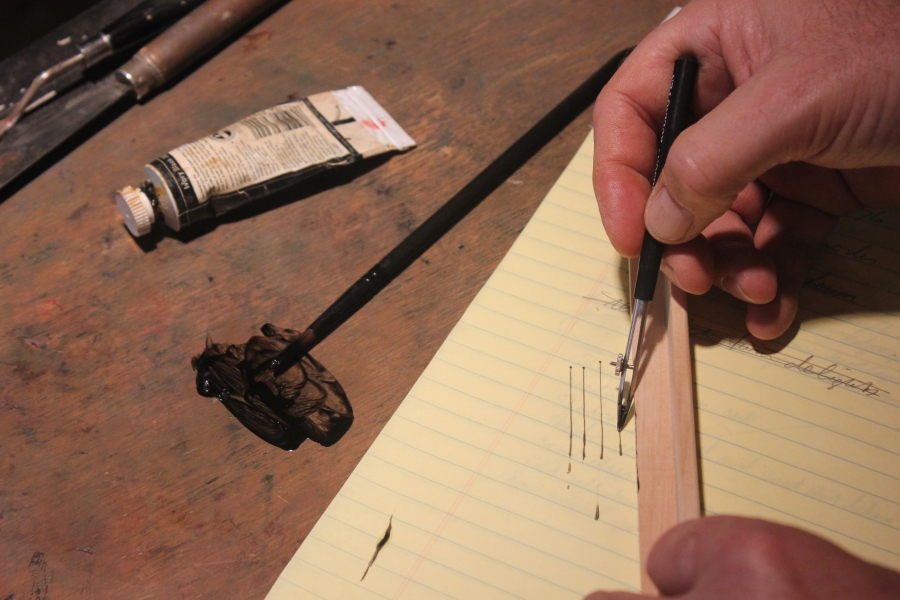 The ruling pen, how to use it to make fine straight lines in oil ...