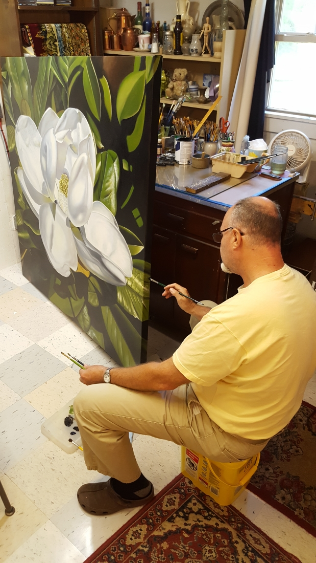 Southern Magnolia oil painting