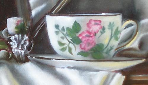 teacup oil painting