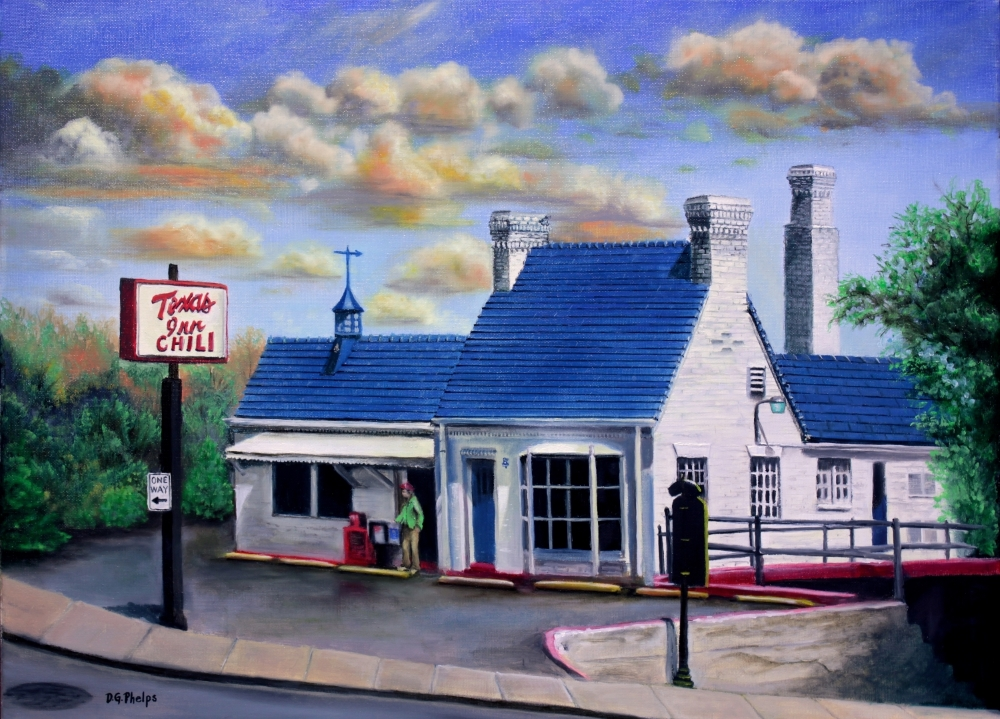 lynchburg texas inn landscape art