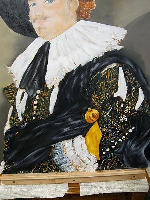 Cavalier Portrait details of arm