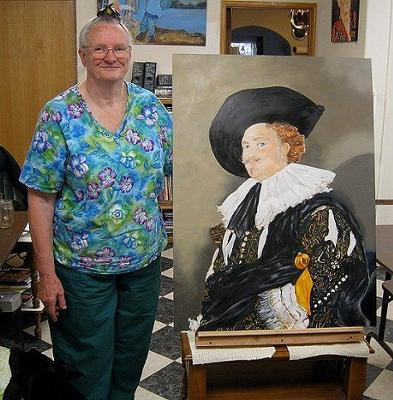 Cavalier Portrait with Artist Peggy!