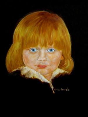 Sheena, great grand child portrait painting