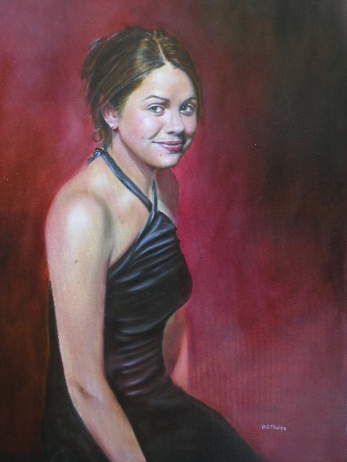 oil painting young lady