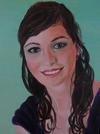Oil Painting Portrait of a young woman.