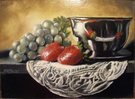 strawberry oil painting