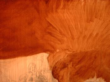 the umber under layer or brown underpainting used in the