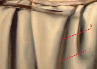 drape folds painting demonstration