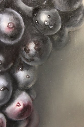 closeup of grapes painting