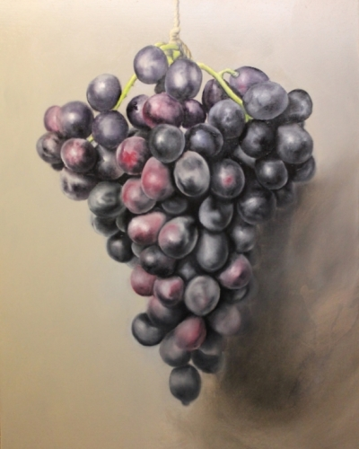 painting grapes demonstration