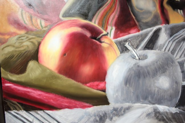 upclose apple painting