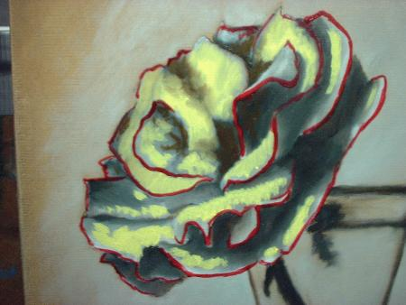 painting of rose