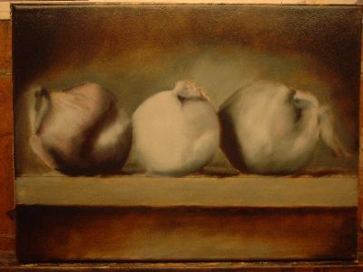 white onion painting
