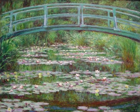 how to paint a monet water lilies painting