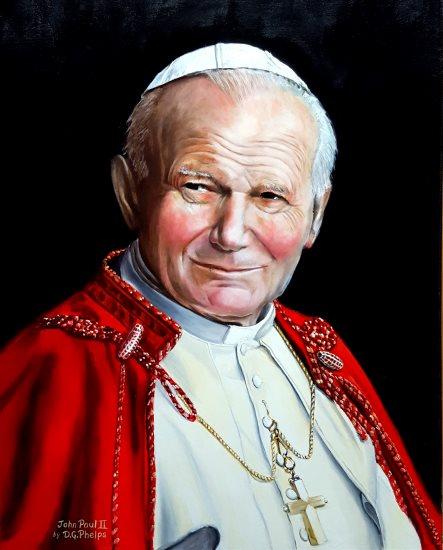 Saint Pope John Paul II portrait painting