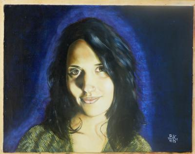 Anna, oil painting portrait of a young lady.
