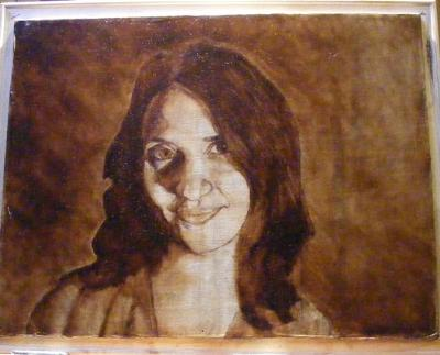 umber layer of a portrait