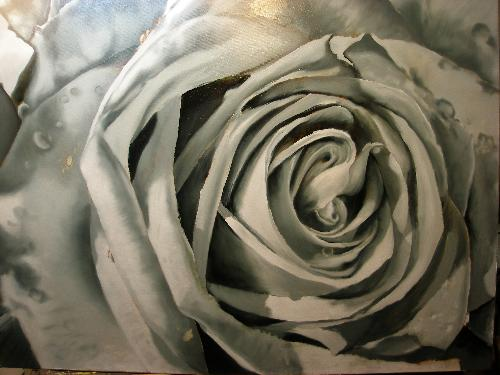 grisaille rose painting