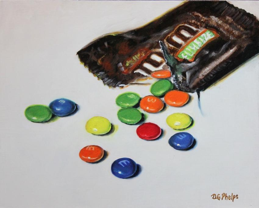 M&M's candy art