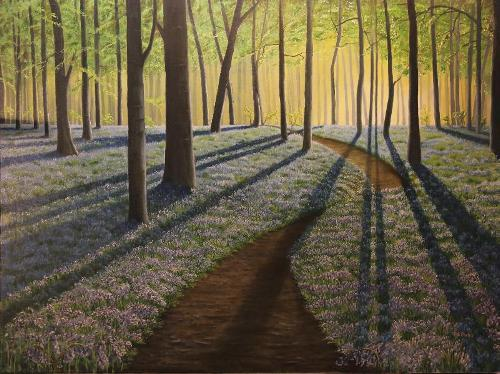 Blue Bells woodland painting