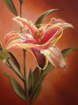 lily painting, how to paint lilies
