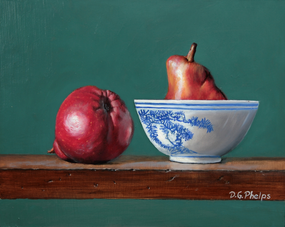 Red Pears Painting titled: