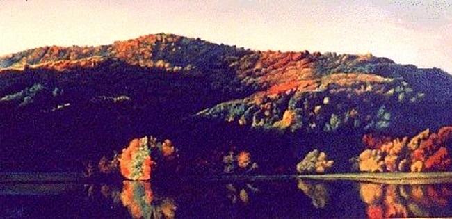 abbot lake peaks of otter painting
