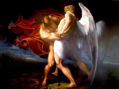 Jacob Wresling the Angel Peniele