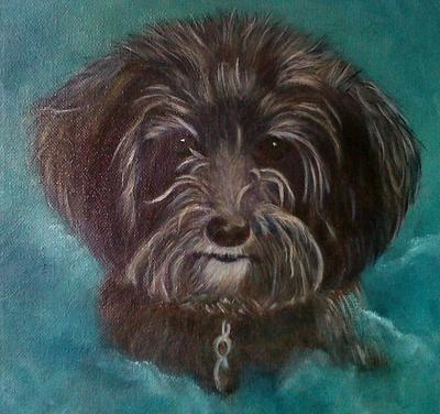 Monty, an oil painting portrait.