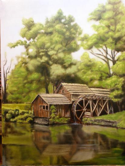 mabry mill painting