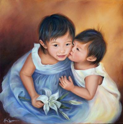 Portrait of small girls