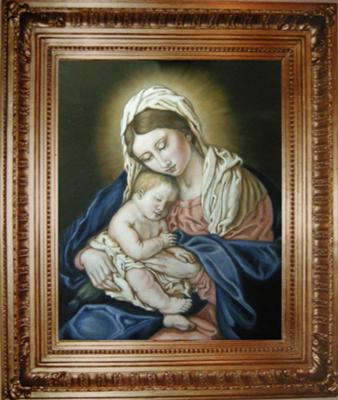 Madonna and Child portrait painting