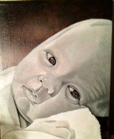 portrait of an infant entitled