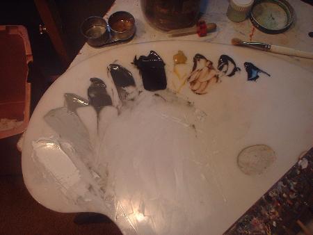gray scale oil paints