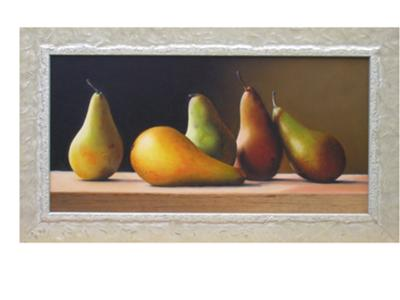 Pears still life painting example flemish techique