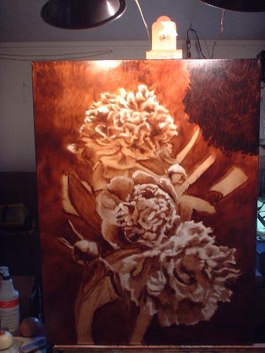 peony painting