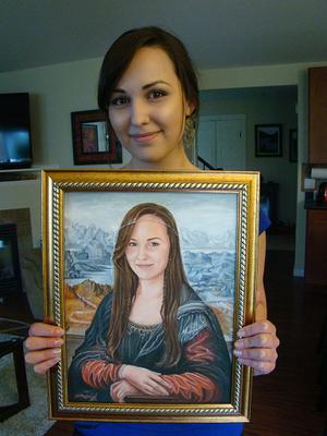 Portrait painting with Client