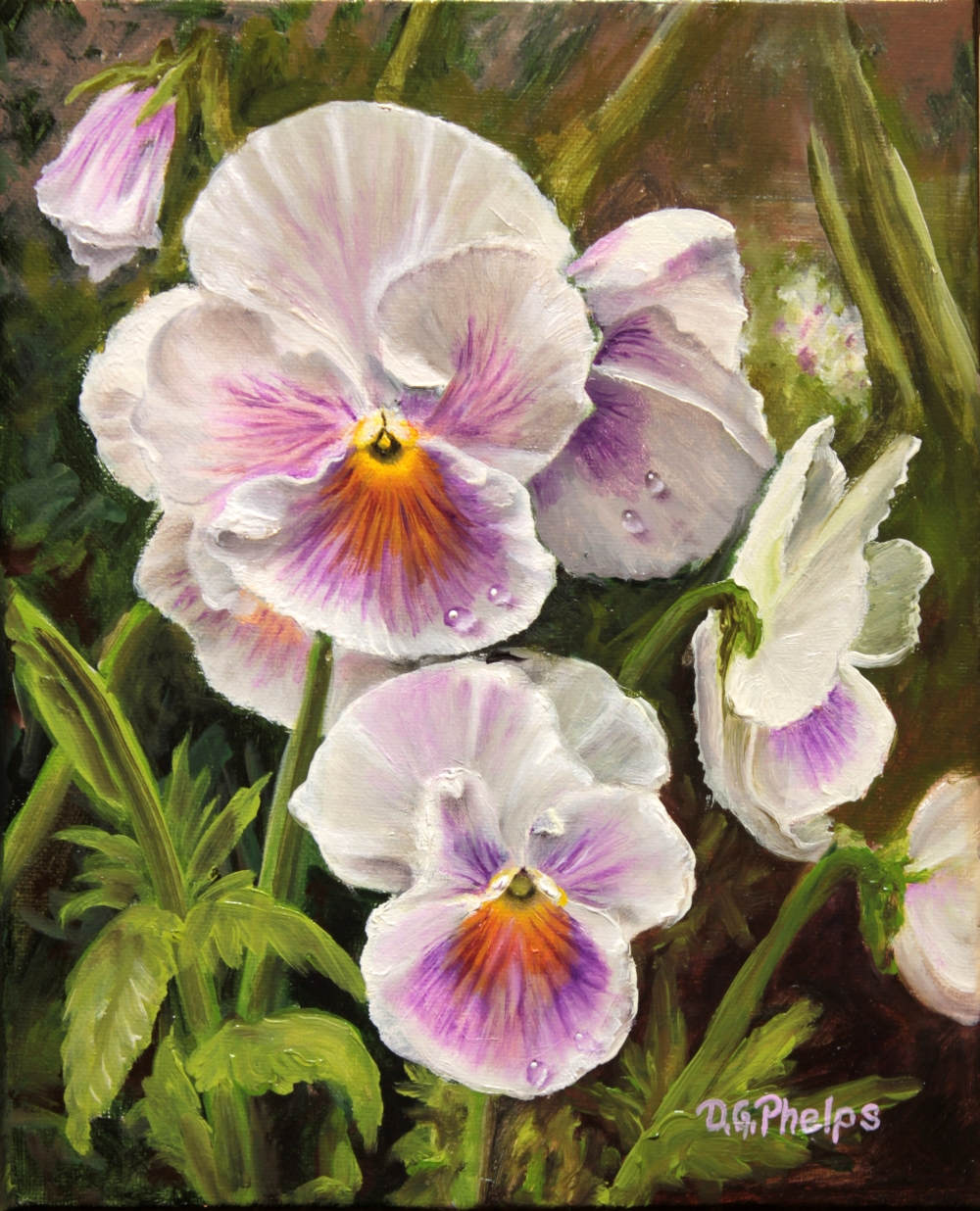 How To Paint Pansies In Acrylics