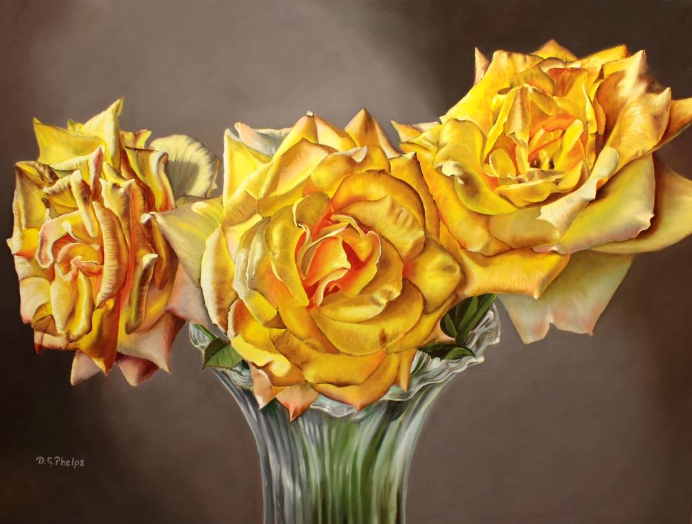 yellow roses art